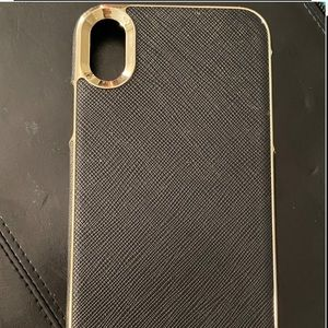 iPhone XR Kate spade black & Gold case